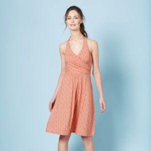 BODEN St. Lucia Jersey Halter Dress Orange {A53}